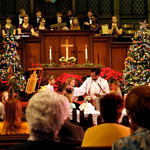 Children's Sermon, CHS Singers in Choir